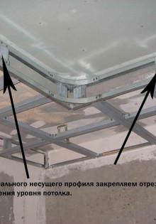 Как сделать двухуровневый потолок из гипсокартона своими руками: пошаговая инструкция