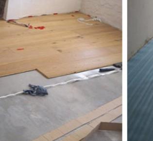 Укладка ламината на бетонный пол с подложкой: технология укладки своими руками