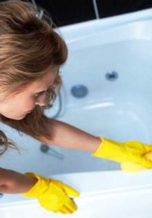 Чем продезинфицировать акриловую ванну