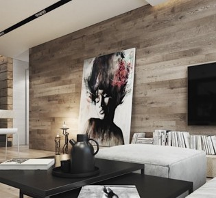 Оформление дизайна стен с ламинатом в интерьере разных комнат