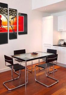 Модульные картины в интерьере гостиной, спальни или кухни, фото идеи