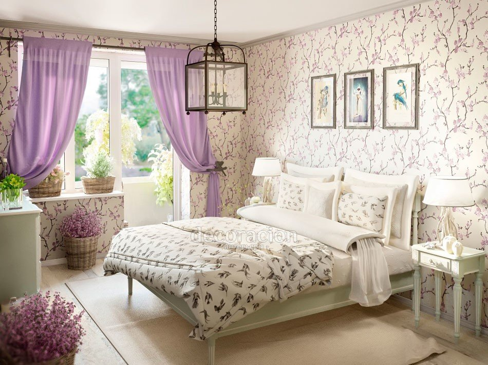 Спальня в стиле прованс — уютное обустройство современного интерьера (126 фото)