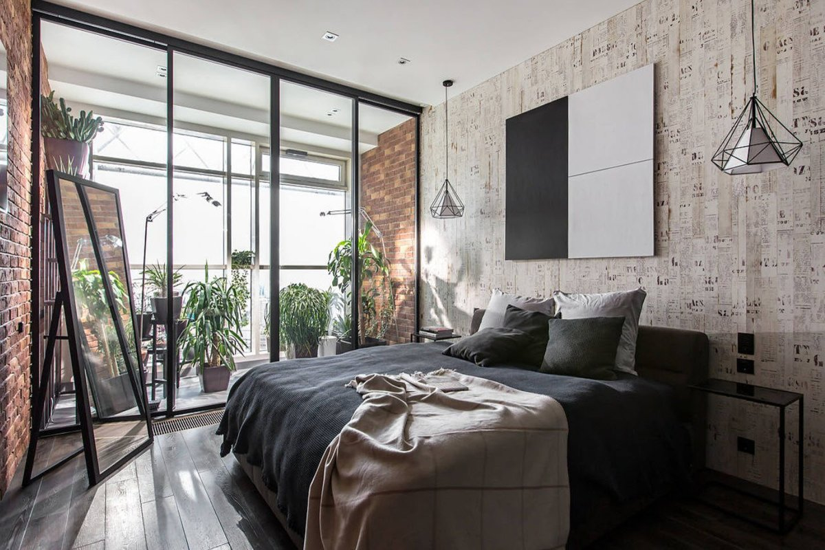 Какую спальню в стиле лофт выбрать — обзор дизайна в разных странах