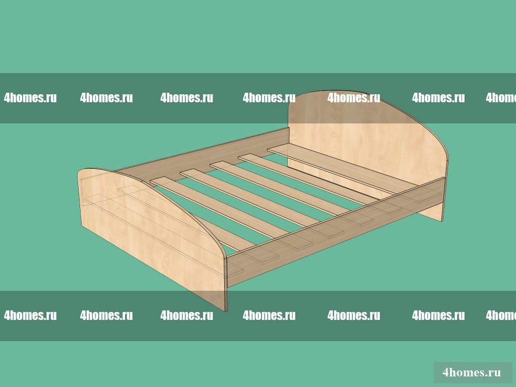 Односпальная кровать своими руками