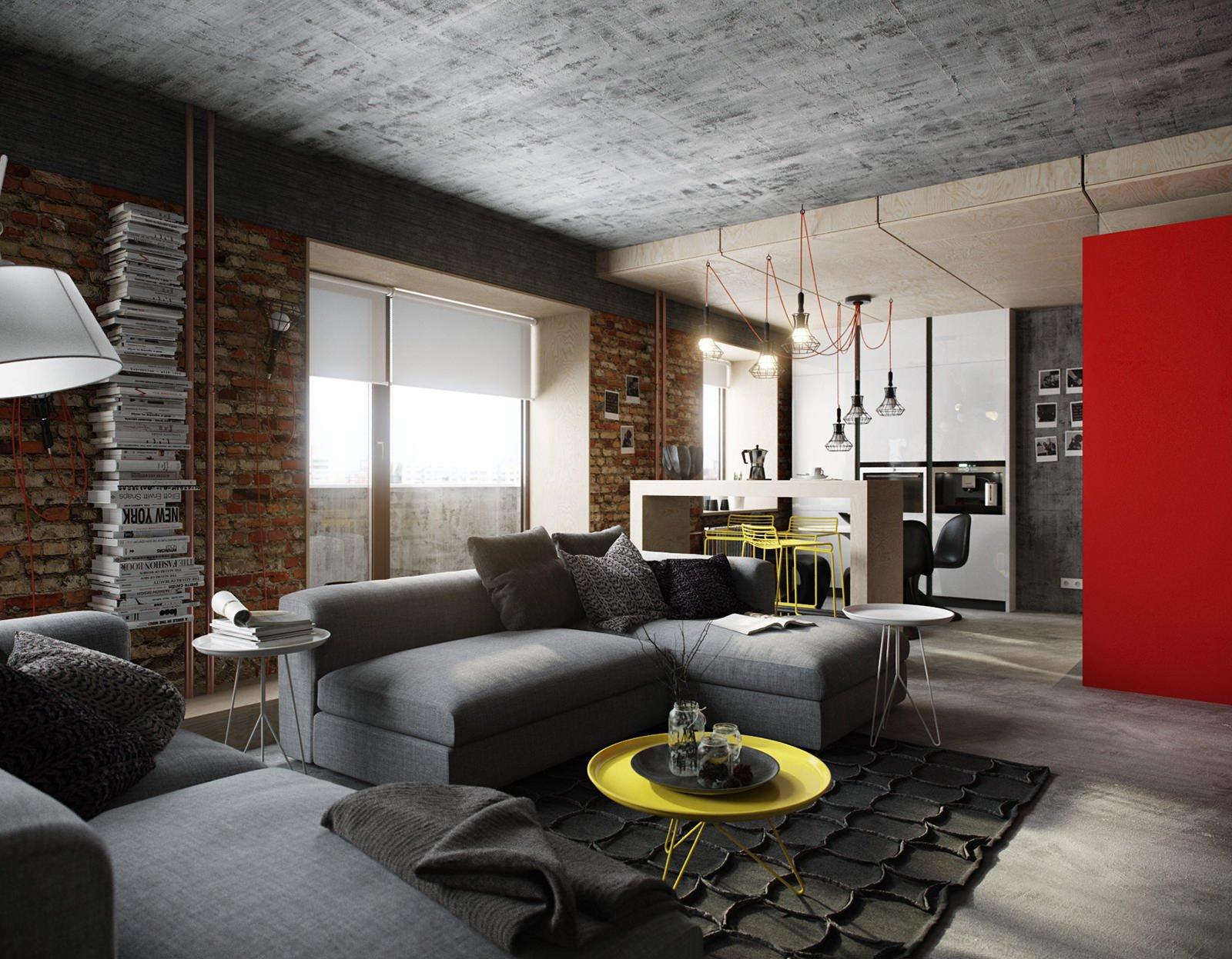 Дизайн интерьера квартиры в стиле лофт: 90 фото-идей