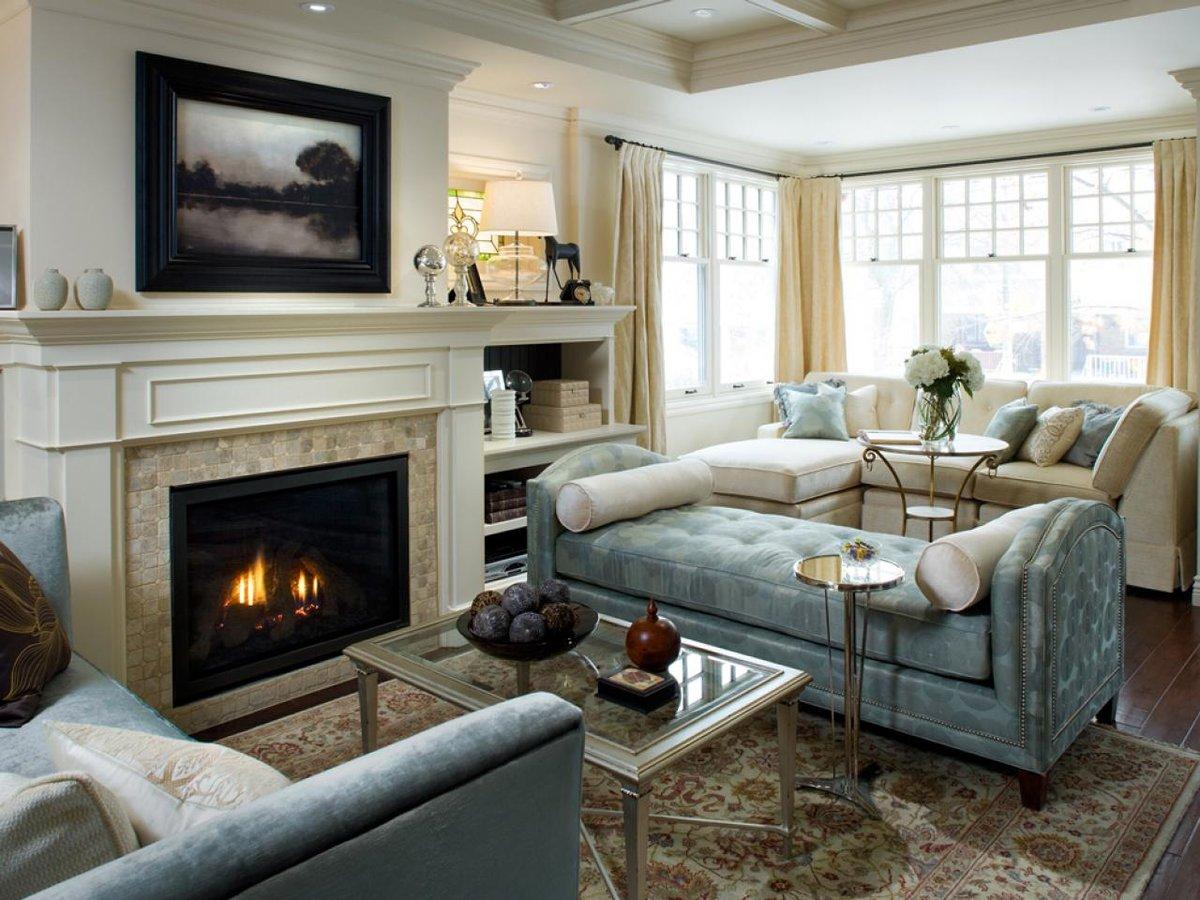Создание гармоничного дизайна гостиной с камином