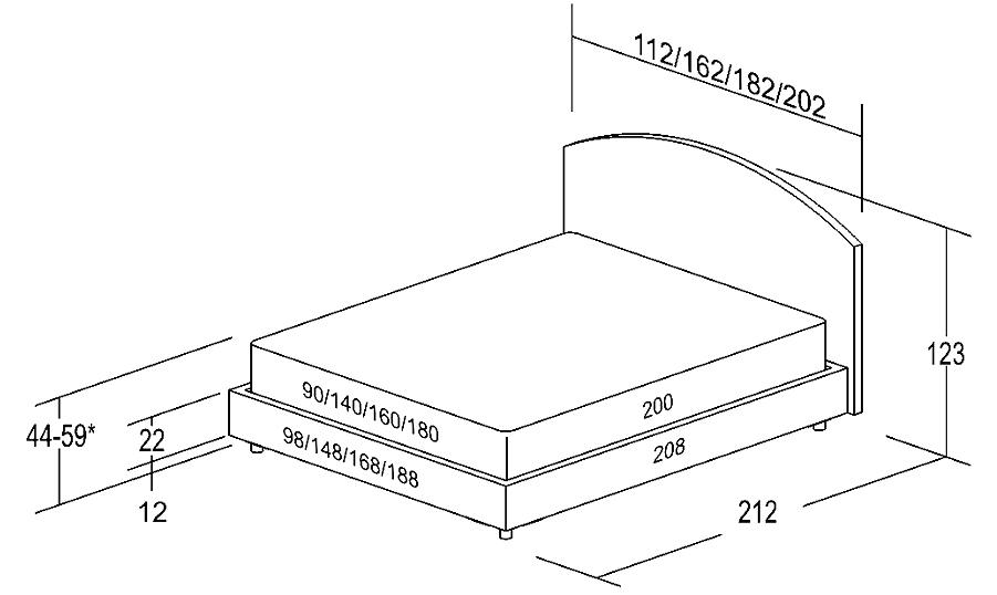 Двуспальная кровать — размеры и технические особенности