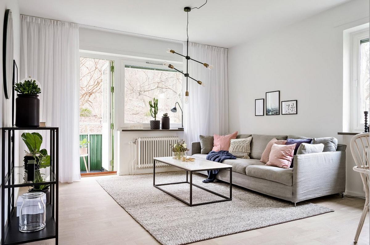 Три квартиры в спокойном скандинавском стиле (41 фото)