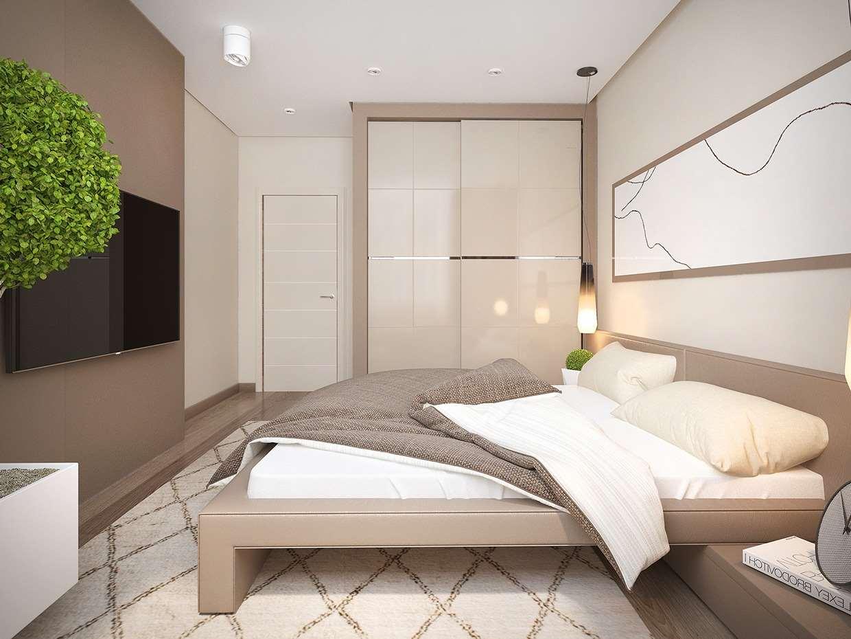 Дизайн спальной комнаты в стиле минимализм