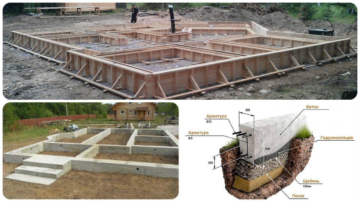 Виды фундаментов (73 фото): мелкого заложения для частного дома, сп основания и снип, какой тип лучше