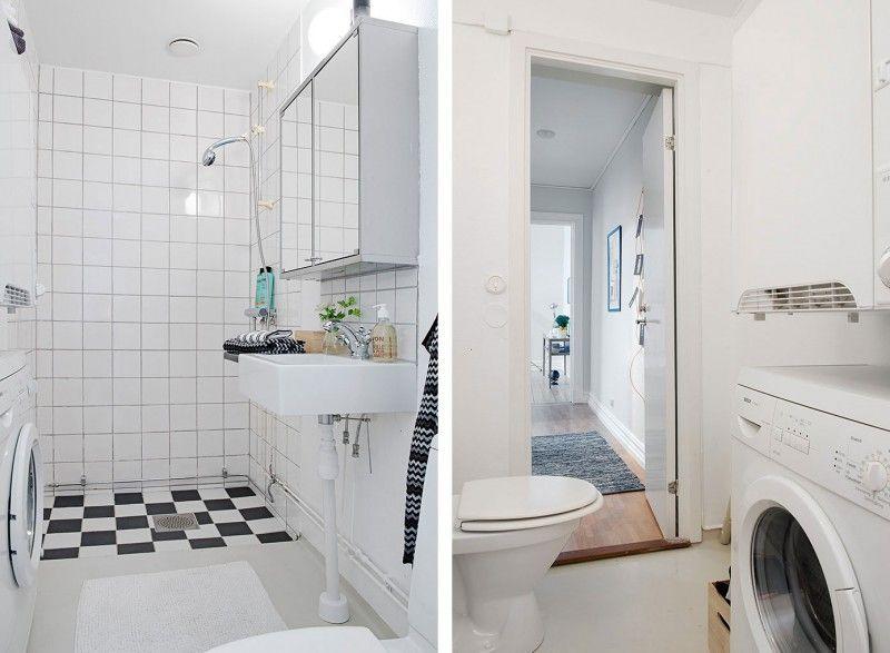Ванная в скандинавском стиле: реальные фото дизайна интерьера маленькой ванной