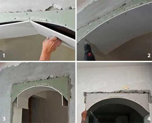 Как сделать арку из гипсокартона своими руками: пошаговая инструкция с фото
