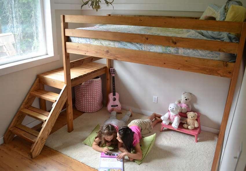 Как сделать детскую двухъярусную кровать своими руками