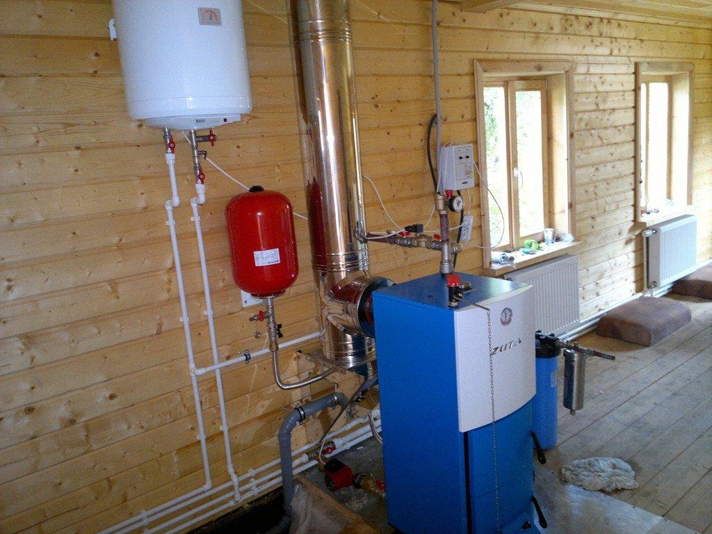 Экономная система отопления загородного дома на основе твердотопливного котла, от «А» до «Я»