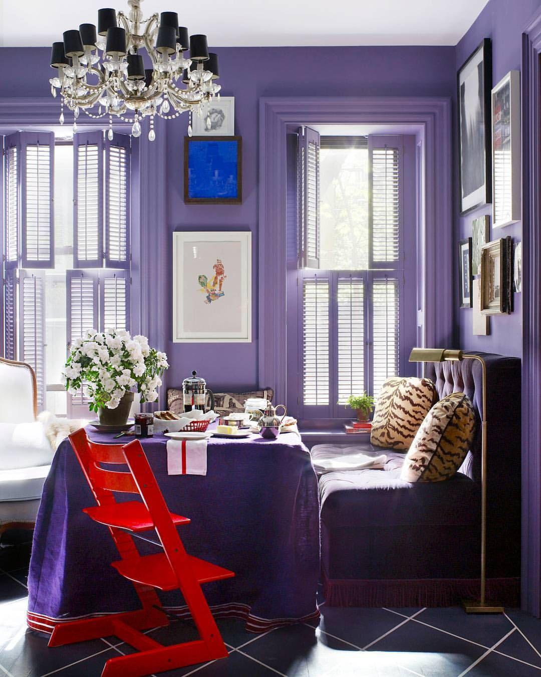 Сочетание фиолетового цвета в таблице. фото