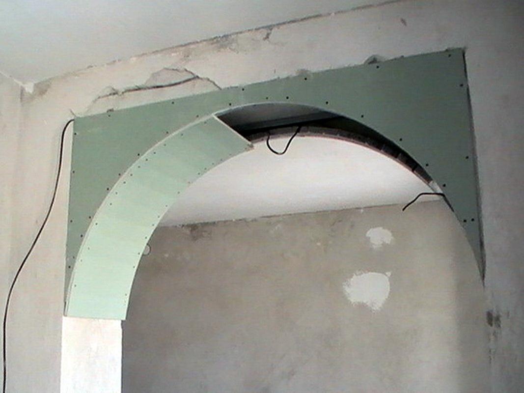 Как сделать арку из гипсокартона в дверном проёме: пошаговая инструкция по изготовлению своими руками с фото и видео