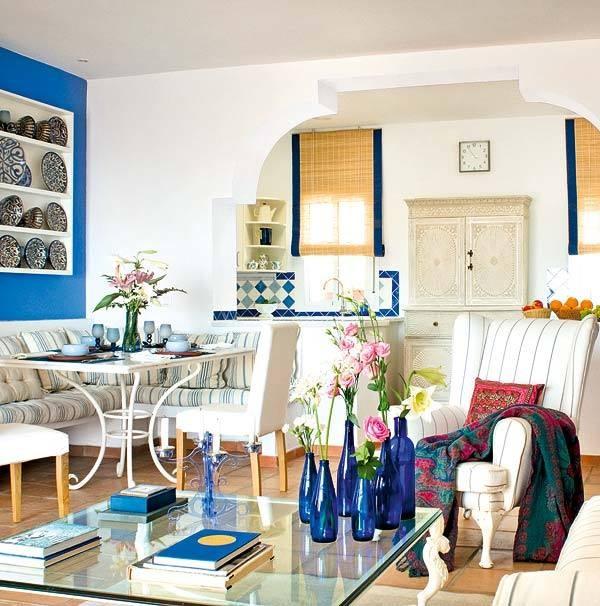Непредсказуемый и яркий средиземноморский стиль в дизайне интерьеров