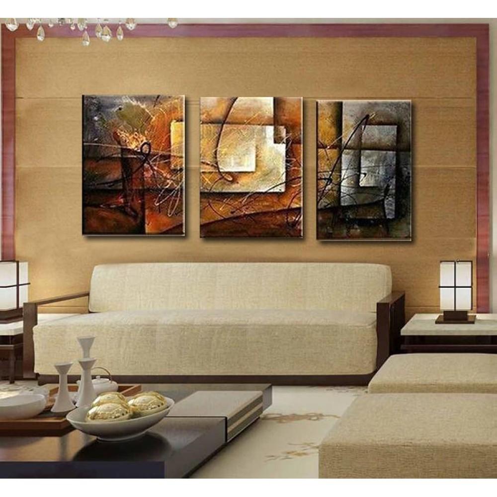 Модульные картины – правила украшения дизайна интерьера стильными элементами оформления