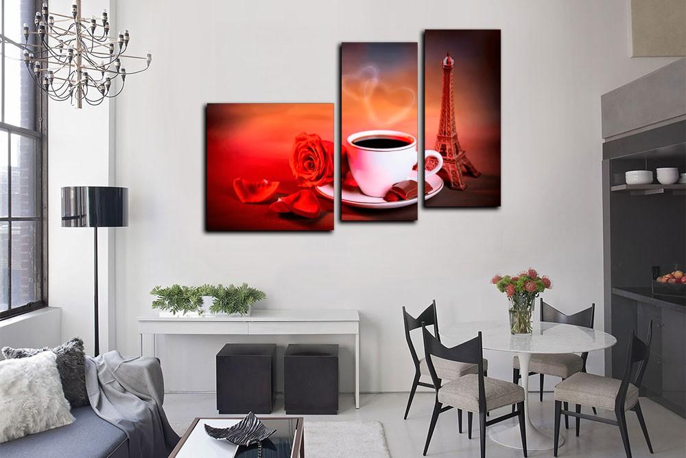 Как подобрать модульные картины для интерьера гостиной: 30 фото