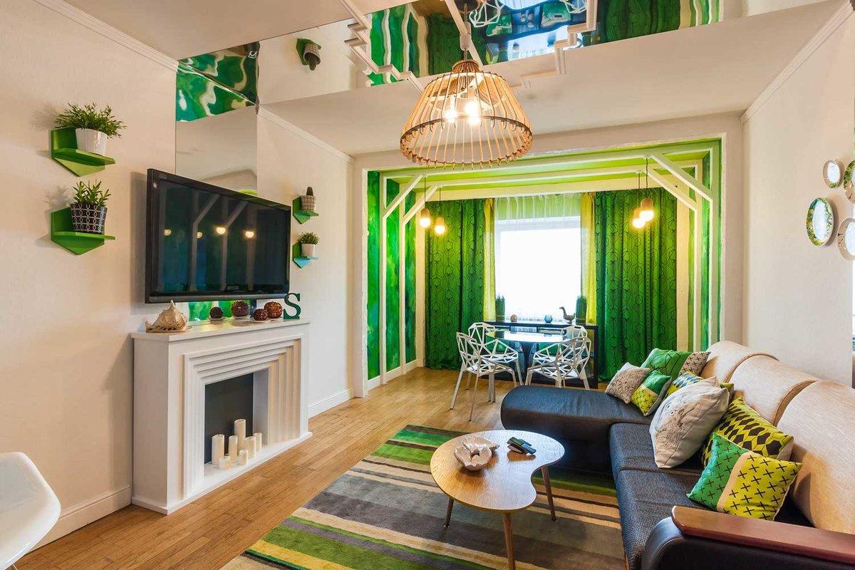 Сочетания зеленого цвета в интерьере