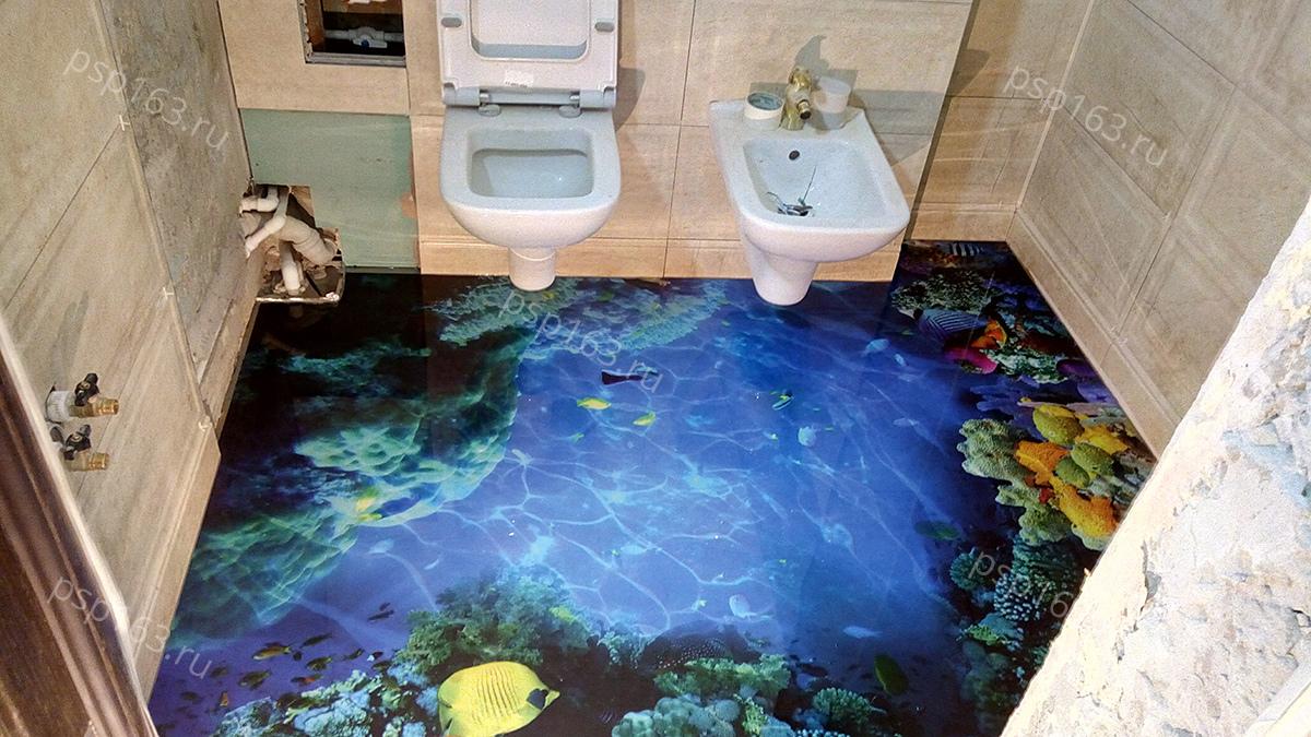 Как смотрится наливной пол в интерьере квартиры?