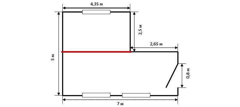 Калькулятор площади стен