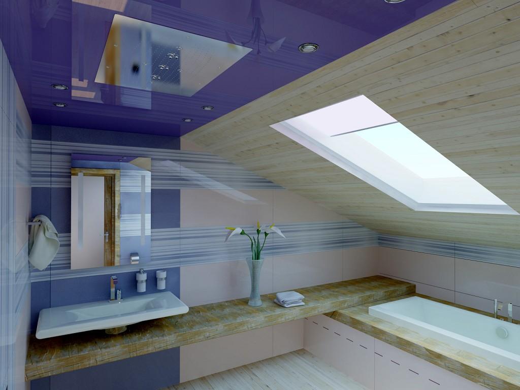 Делаем натяжной потолок в ванной и туалете: плюсы и минусы