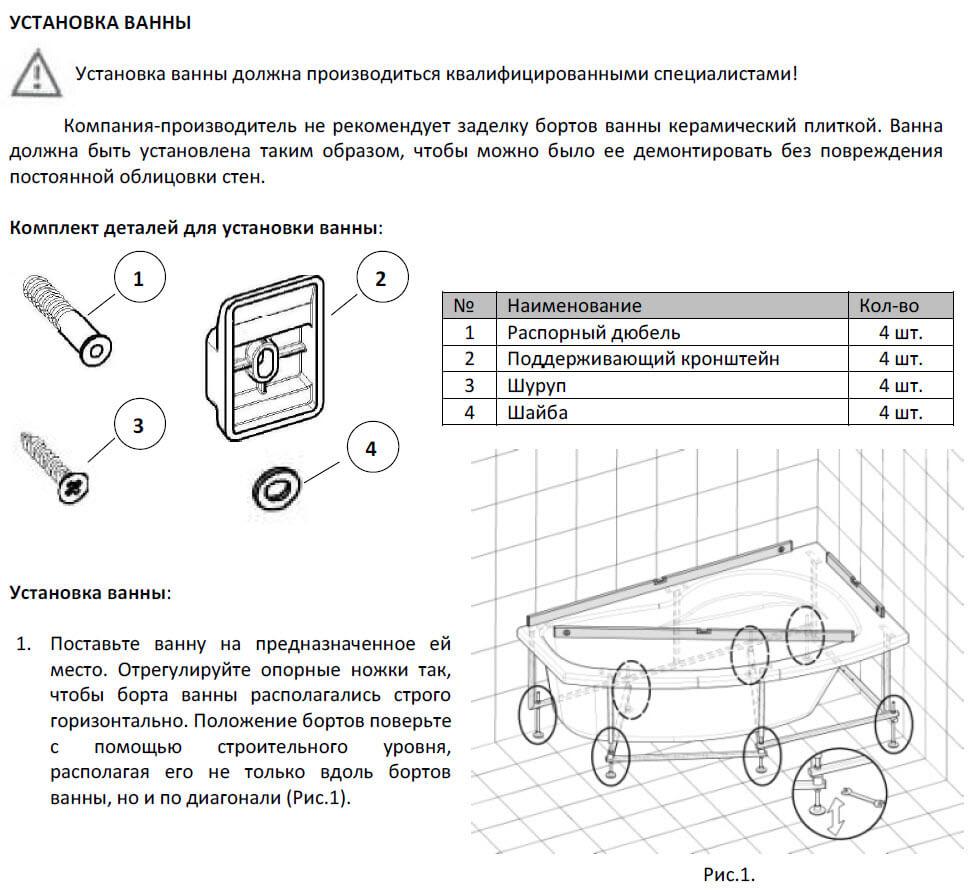 Установка акриловой ванны: тонкости процесса