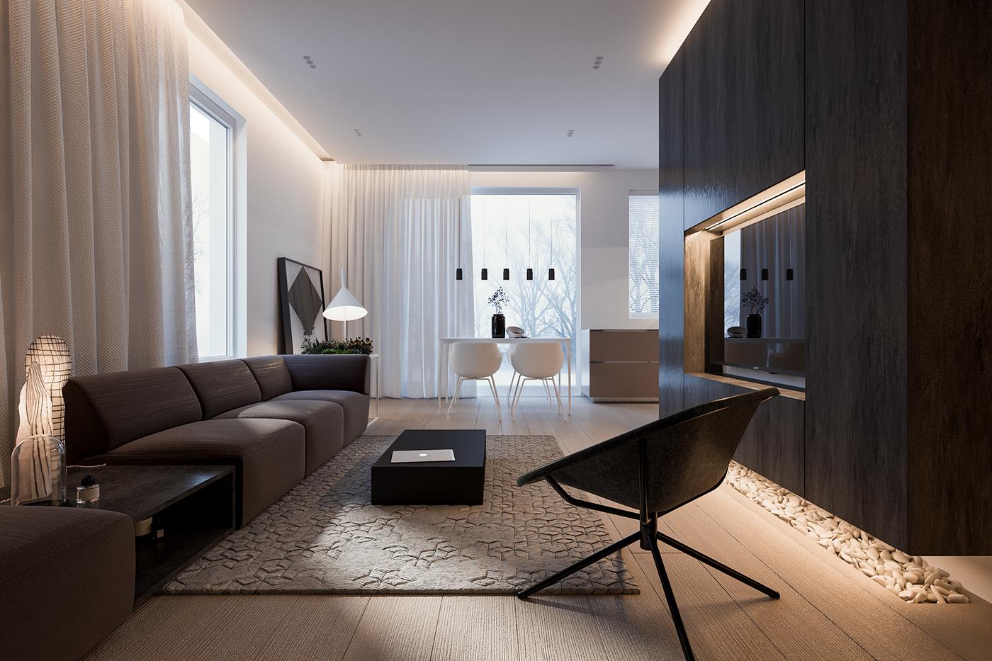 Дизайн квартиры в стиле минимализм (52 фото)