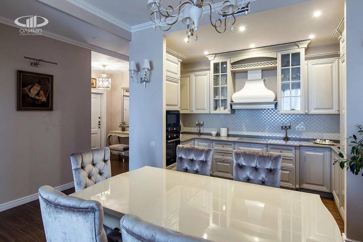 41 идея оформления интерьера кухни в классическом белом цвете