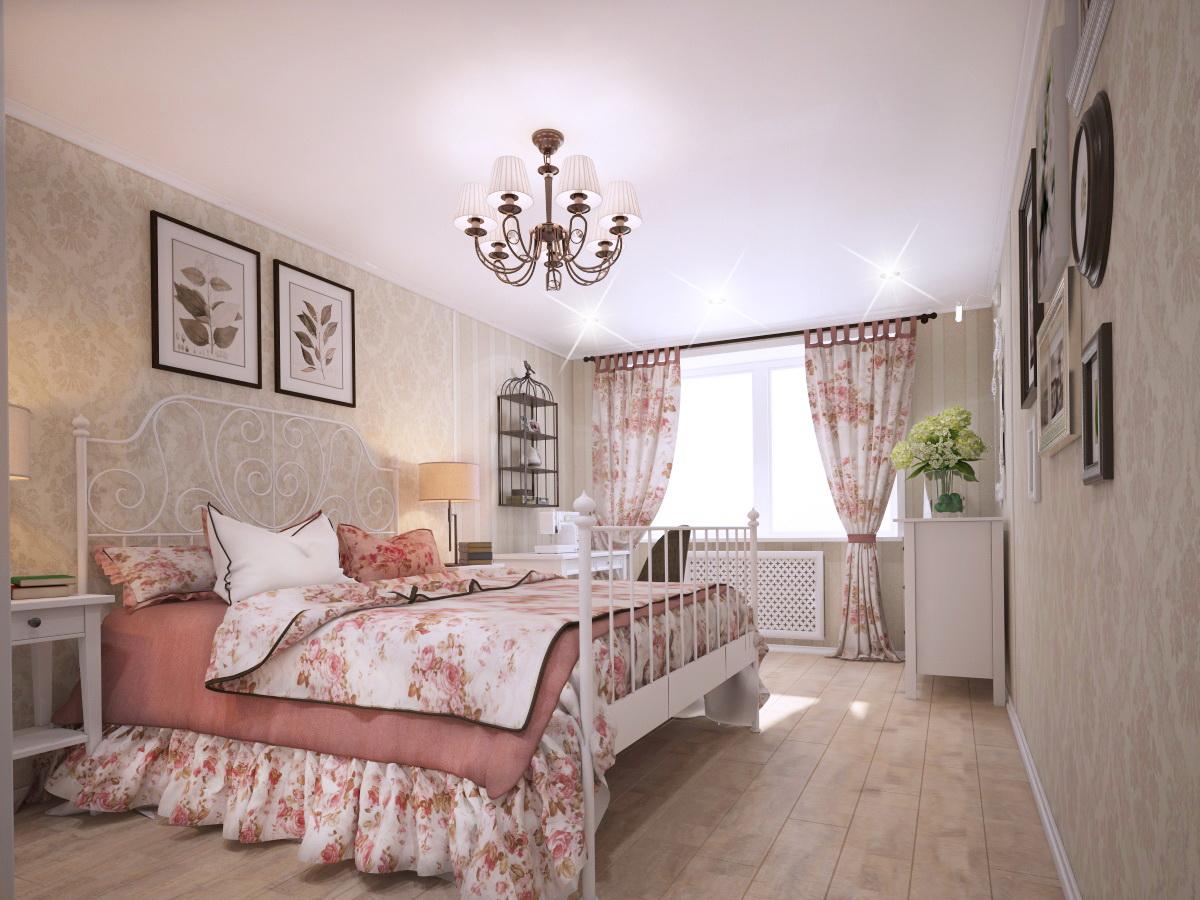 Особенности интерьера спальни в стиле прованс