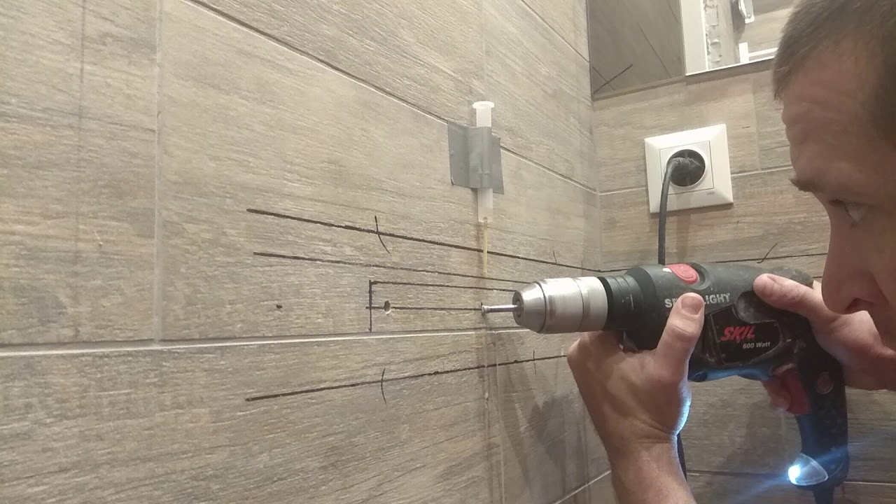 Каким сверлом сверлить плитку в ванной