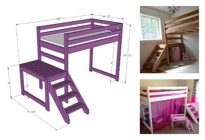 Чердак-кровать для взрослых и детей: разновидности, популярные модели и пошаговый монтаж