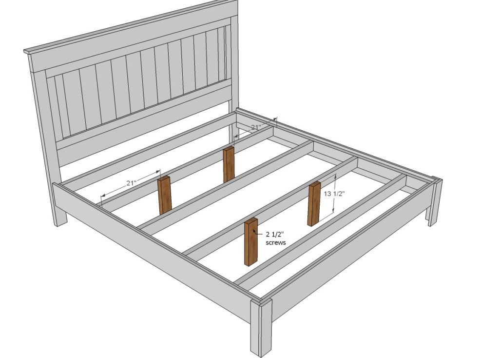 Сделать кровать из дерева своими руками чертежи для сборки