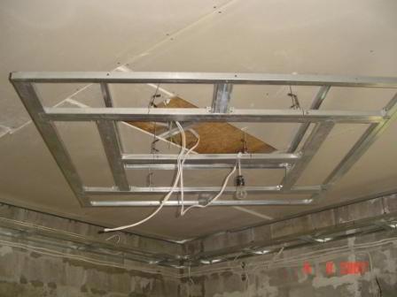 Двухуровневые потолки из гипсокартона – монтаж и сборка