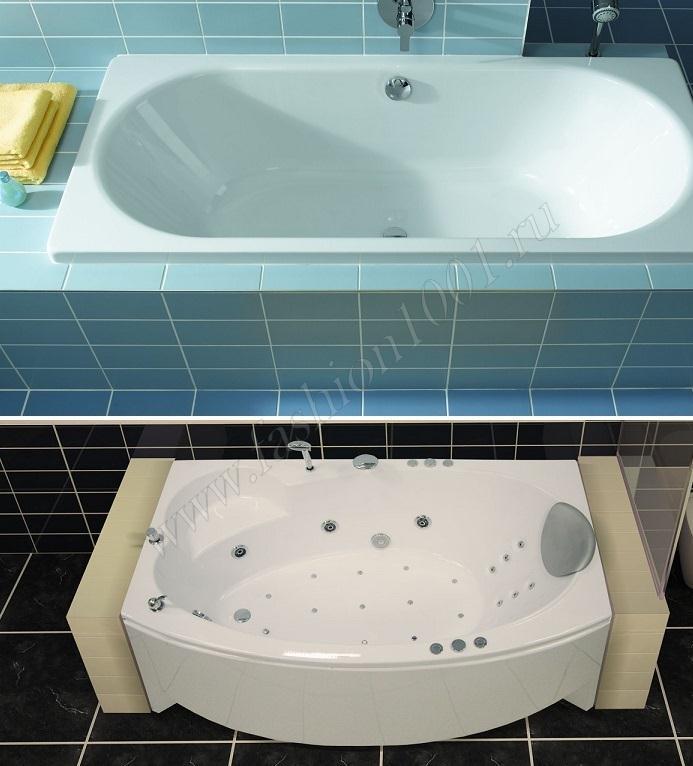 Какая ванна лучше чугунная или акриловая или стальная: подумаем вместе