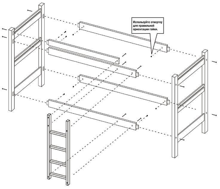 Секреты изготовления двухъярусной кровати из дерева