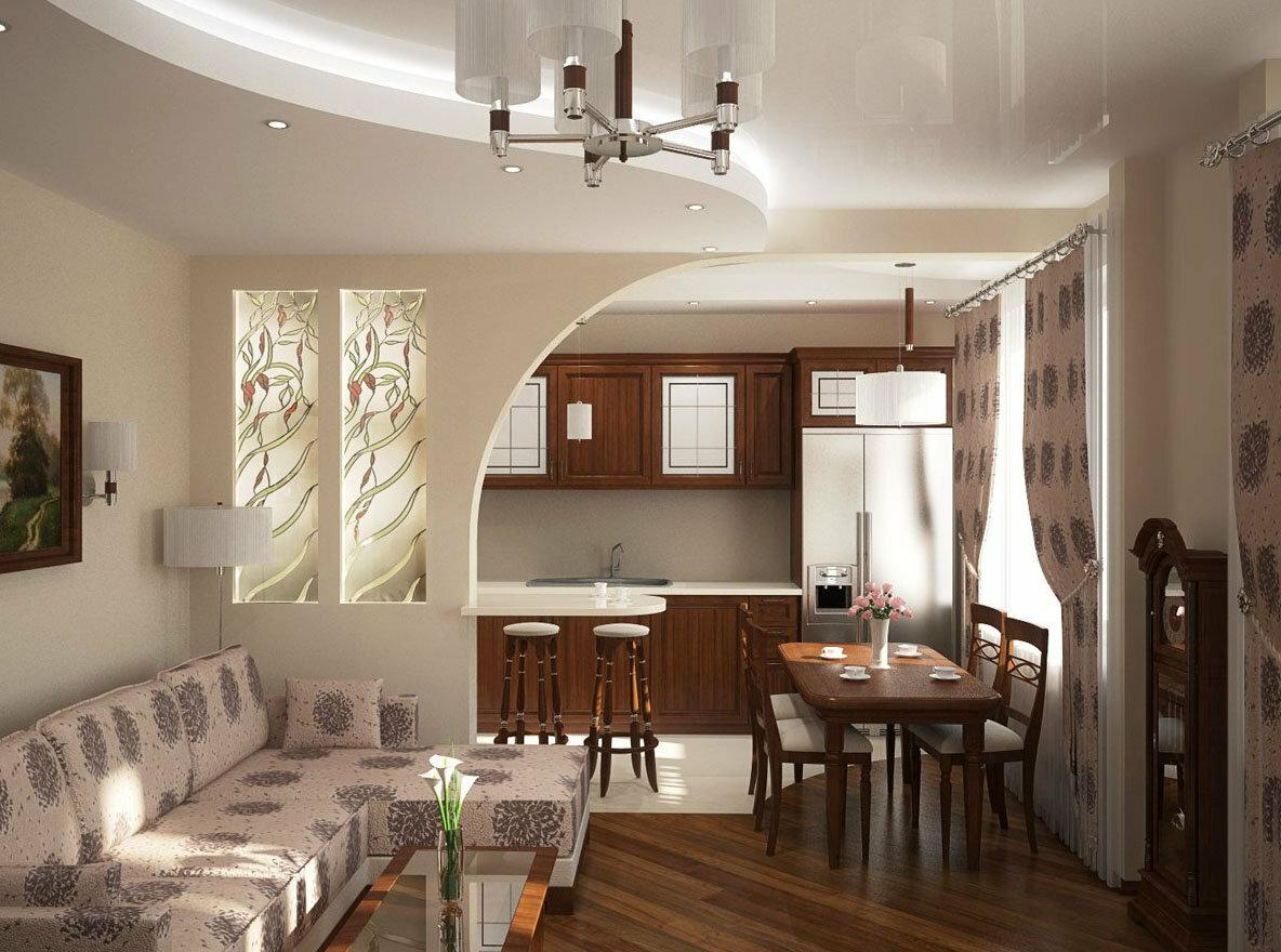 Дизайн гостиной совмещенной с кухней (35 фото) | дом мечты