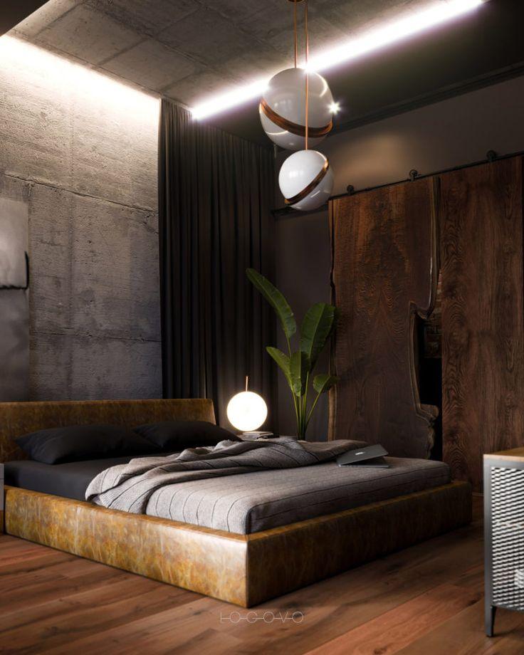 Спальня в стиле лофт: описание, фото в интерьере квартиры