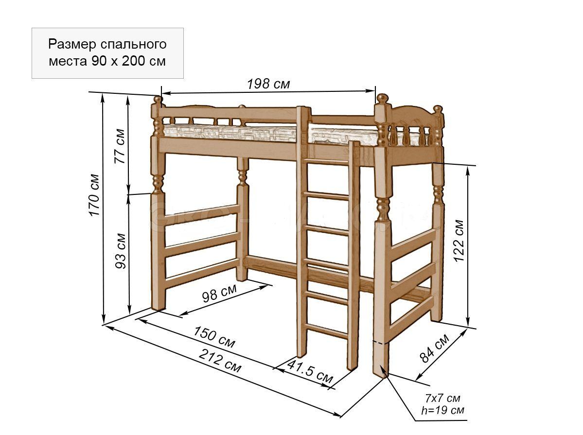 Разновидности и описание кровати-чердака для взрослых