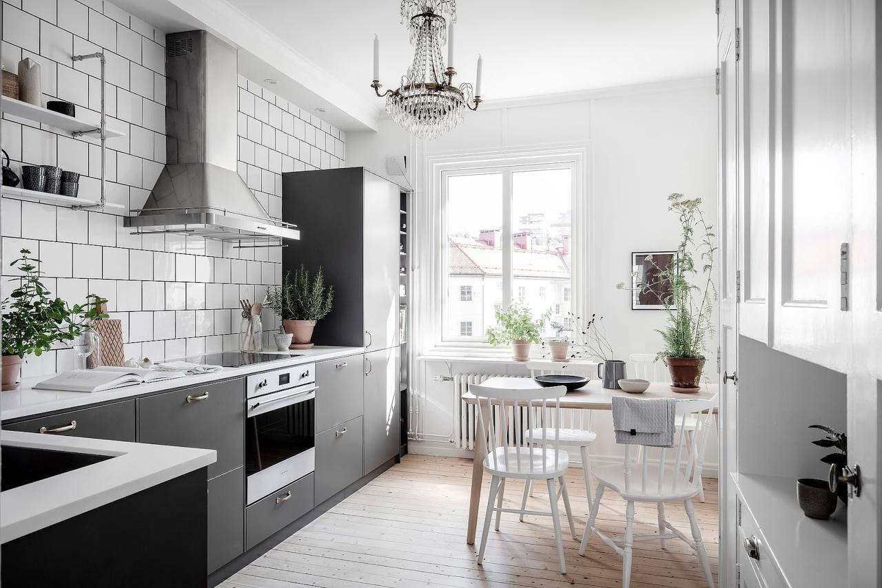 Кухня в скандинавском стиле: 45 фото интерьеров кухни