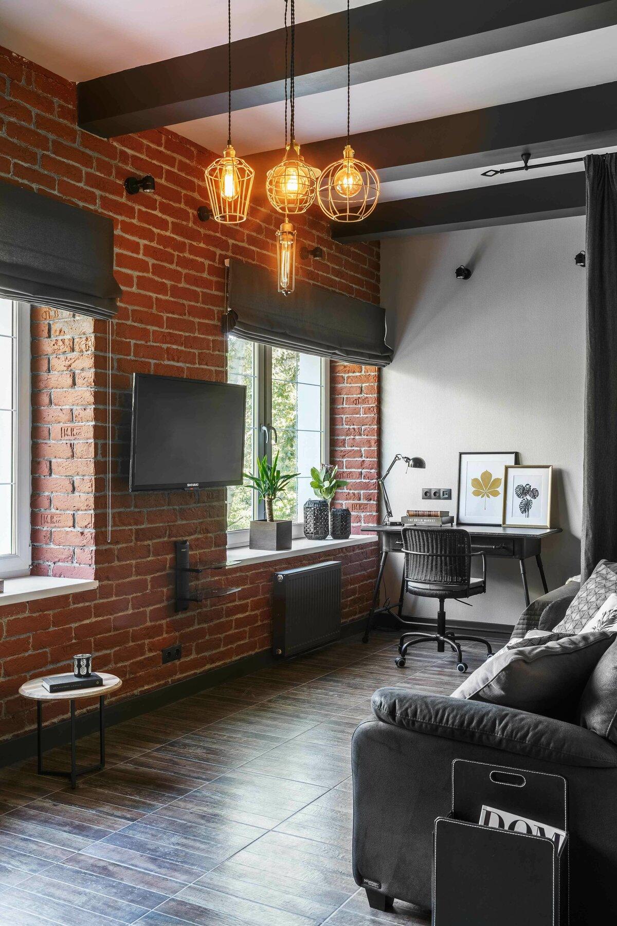 Дизайн интерьера в стиле лофт — 110 фото примеров оформления