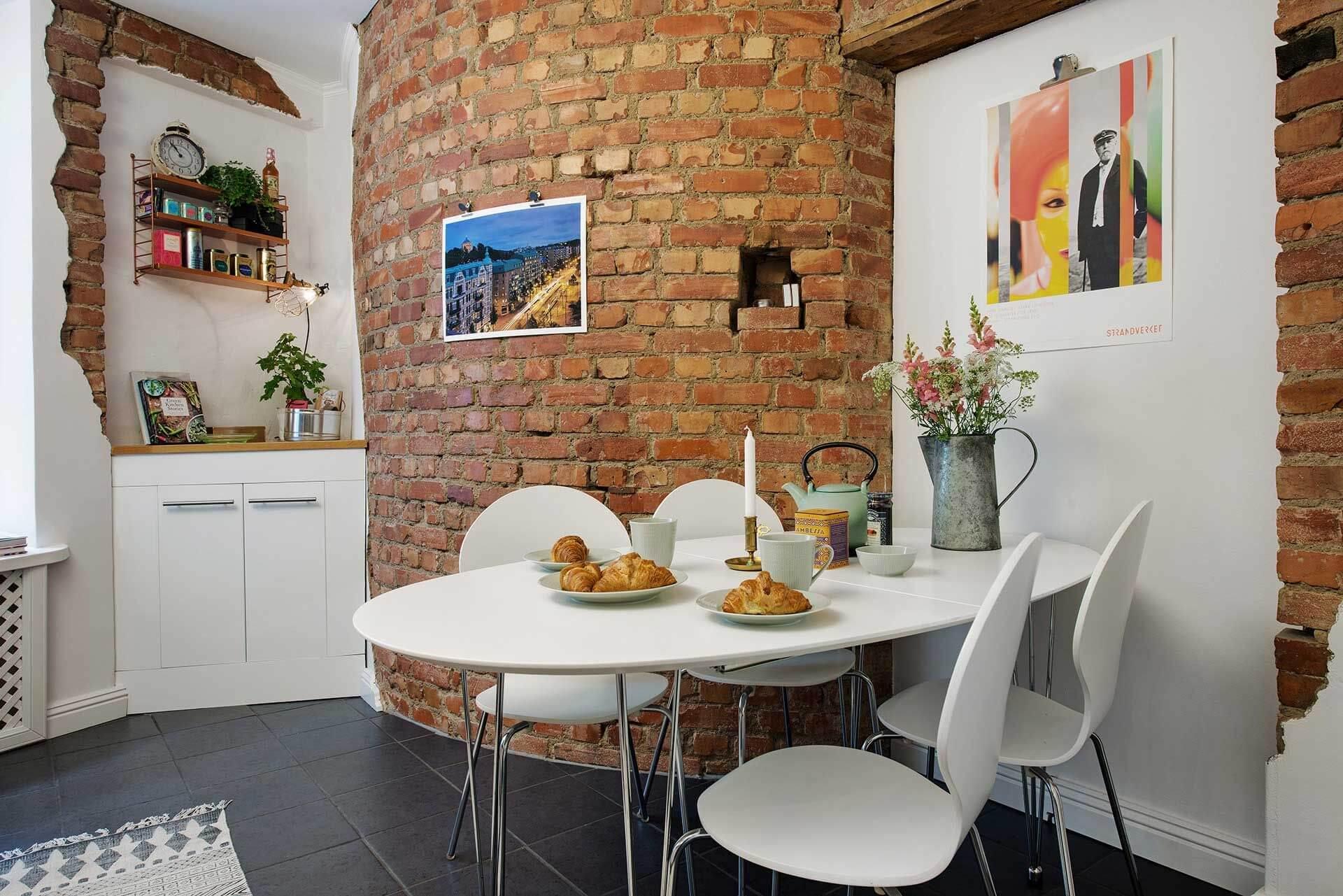 Дизайн стен на кухне (51 фото): обои, современные идеи оформления 2020 над обеденным столом