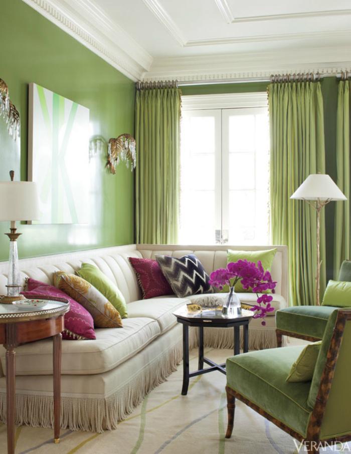 Фисташковый цвет в интерьере (78 фото): таблица его сочетаний с другими цветами, стены цвета фисташек, фисташковые обои в гостиной