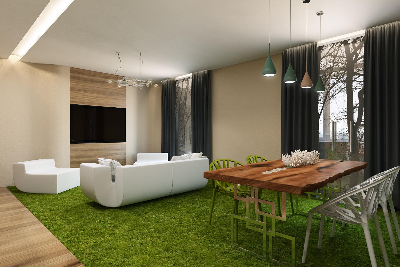 Оформление дизайна кухни-гостиной в стиле эко-лофт