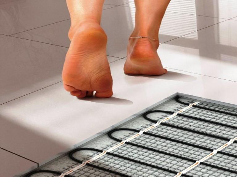Теплый пол под плитку (78 фото): как выбрать маты, какой лучше - стержневой или кабельный пол для кухни, отзывы
