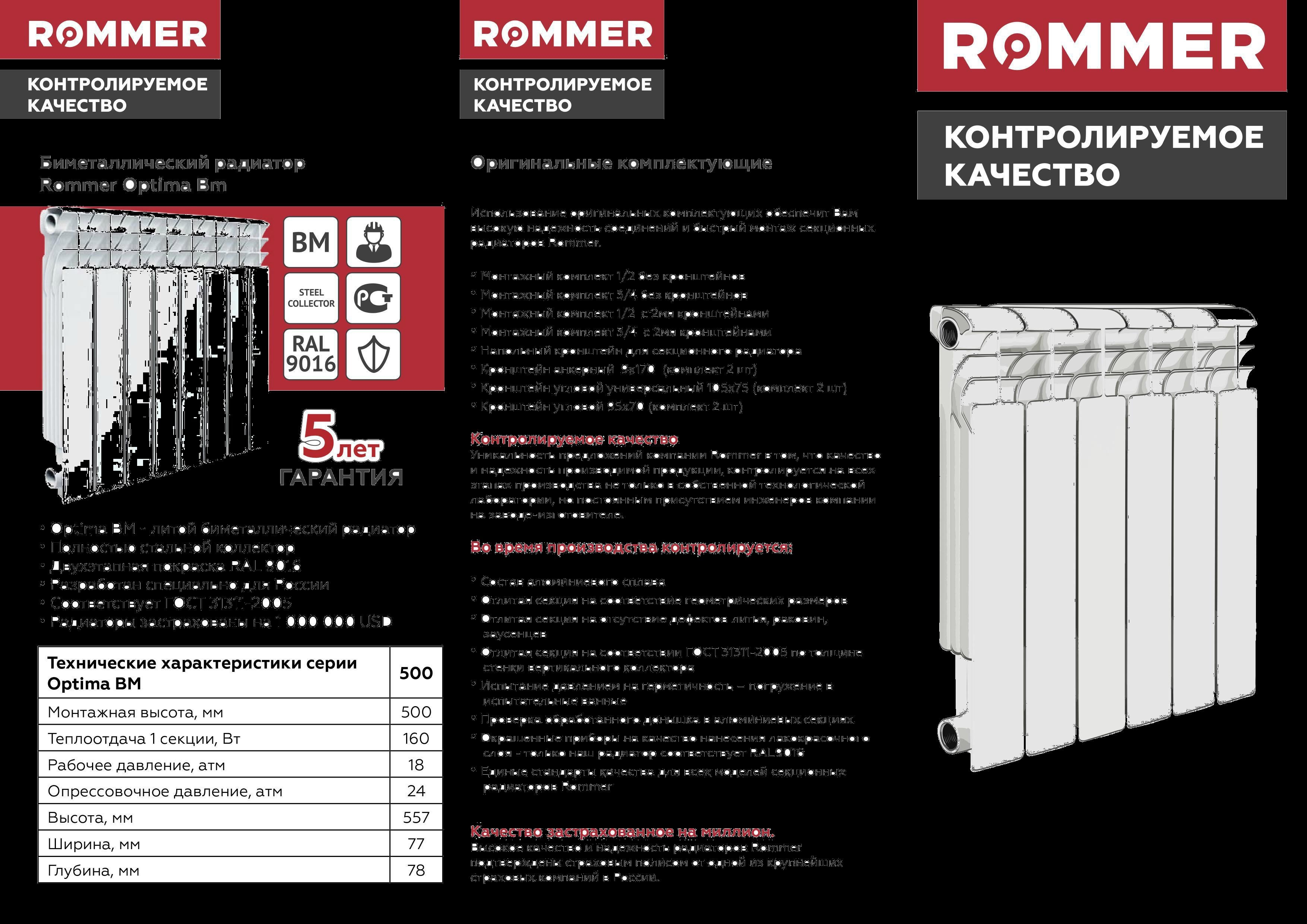 Характеристики современных биметаллических радиаторов