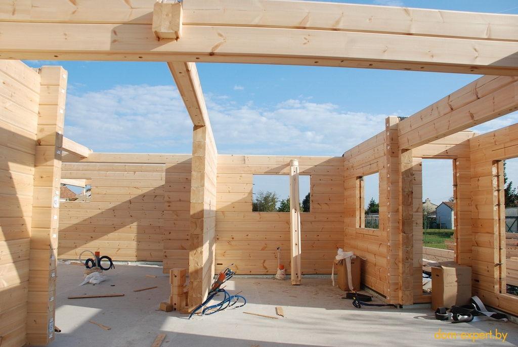 Из какого бруса построить дом на даче