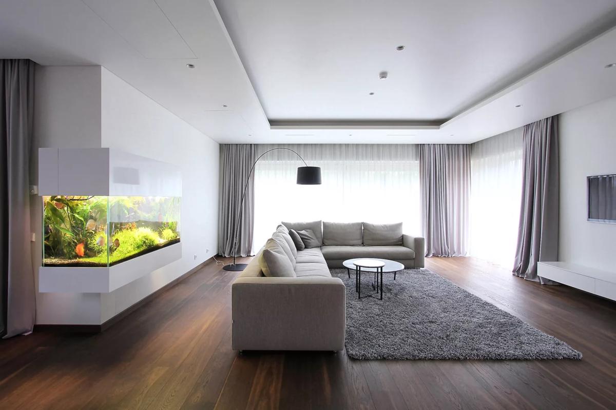Минимализм в интерьере квартиры: современный дизайн малогабаритных помещений с фото