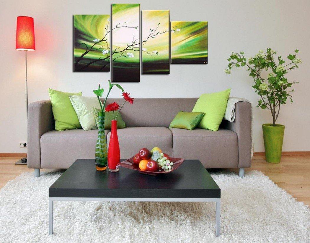Модульные картины в интерьере гостиной (+35 фото). то, чего вы не знали